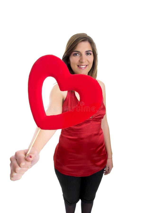 Donna del biglietto di S. Valentino fotografia stock libera da diritti