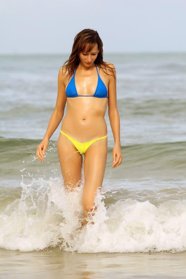 donna del bikini fotografie stock