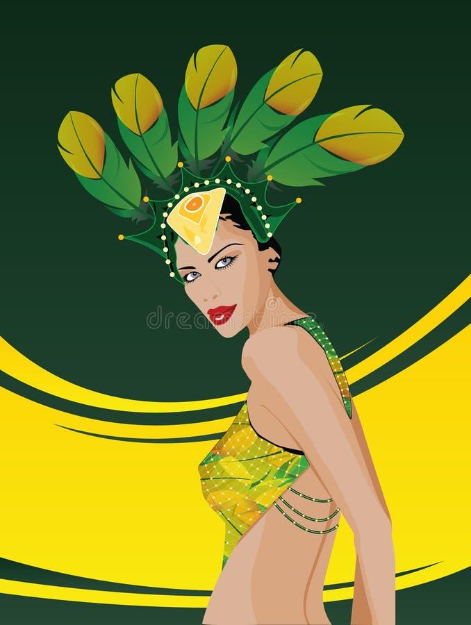 Donna del Brasile immagini stock