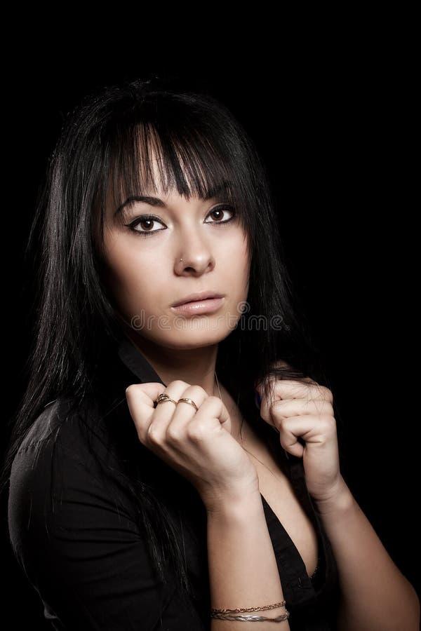 Donna del Brunette fotografia stock