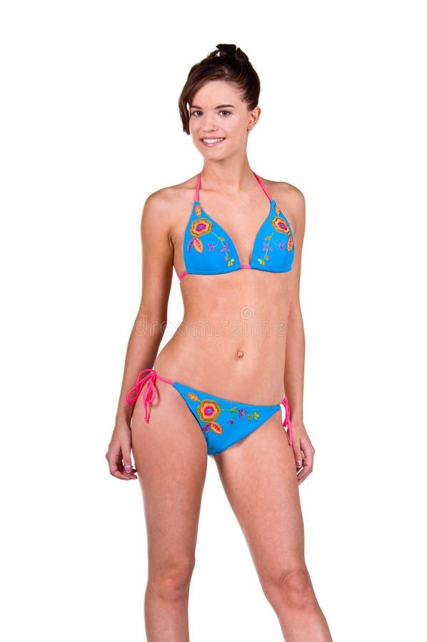 Download Donna Del Brunette In Un Bikini Fotografia Stock - Immagine di adulto, soltanto: 7307952