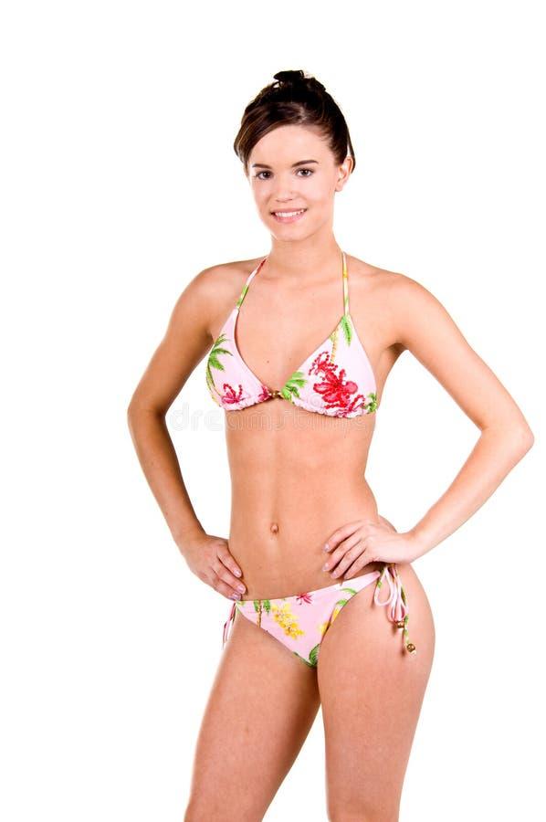 Download Donna Del Brunette In Un Bikini Immagine Stock - Immagine di isolato, femmina: 7308027