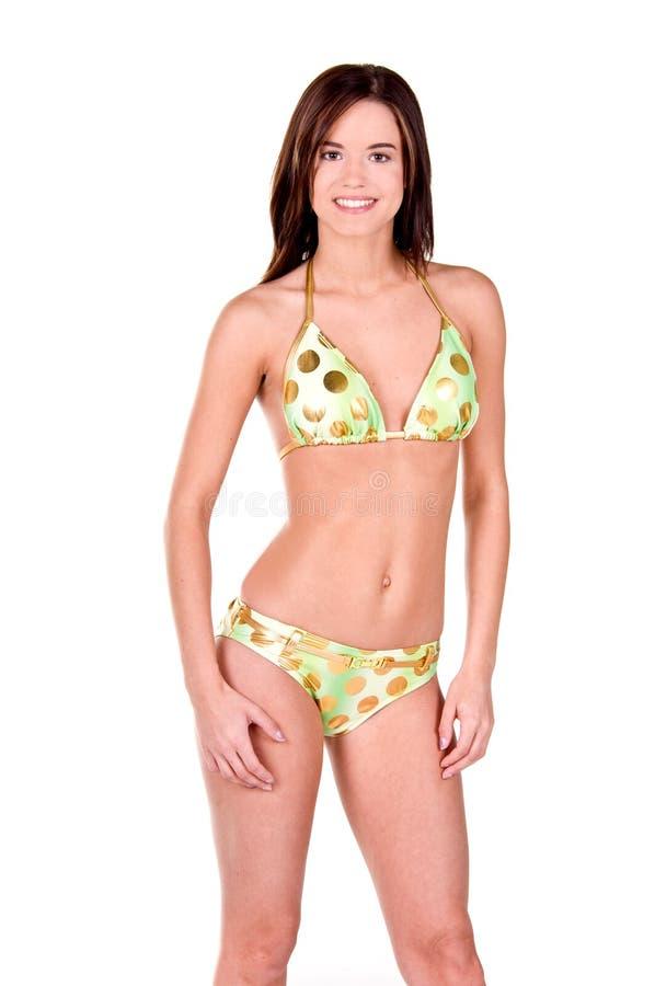 Download Donna Del Brunette In Un Bikini Immagine Stock - Immagine di adulto, giovane: 7308099