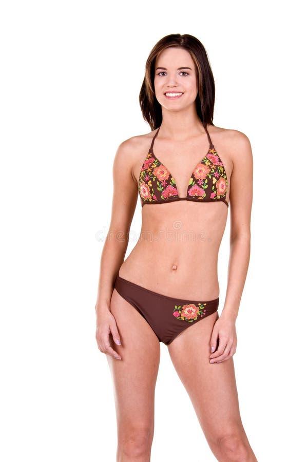 Download Donna Del Brunette In Un Bikini Immagine Stock - Immagine di sorriso, soltanto: 7308117