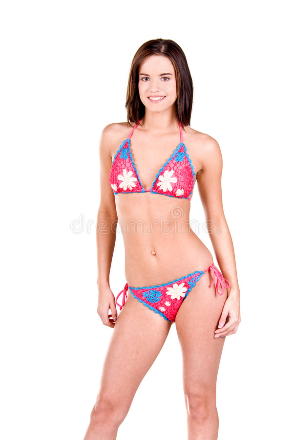 Download Donna Del Brunette In Un Bikini Fotografia Stock - Immagine di modello, femmina: 7308132