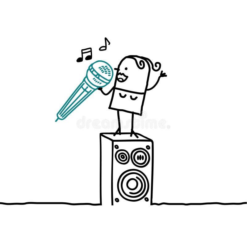 Donna del cantante illustrazione vettoriale