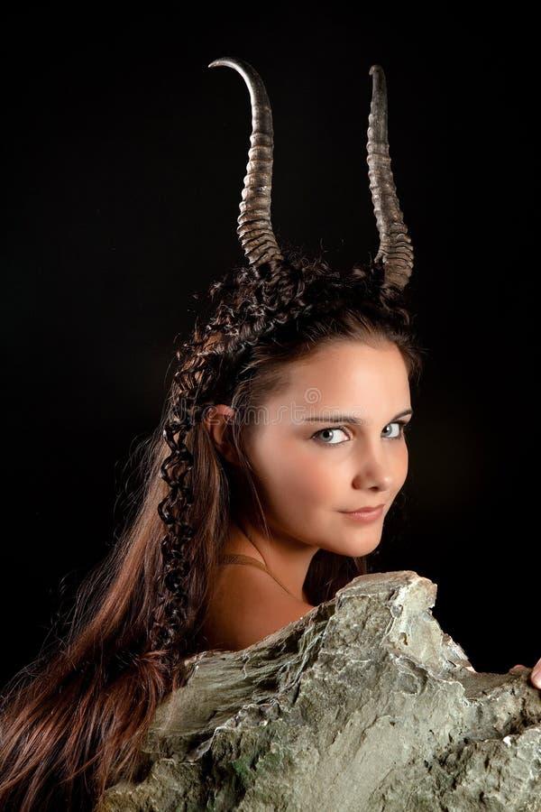 Donna del Capricorn fotografia stock libera da diritti