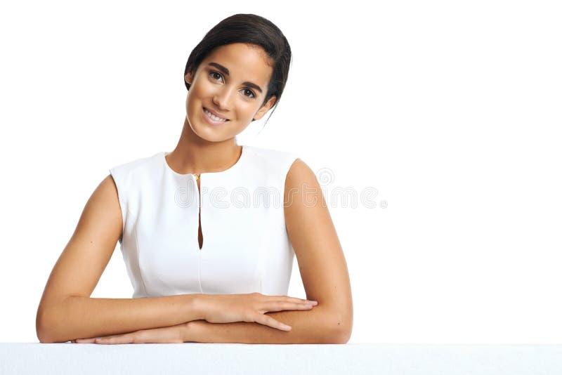 Donna del copyspace di affari immagini stock