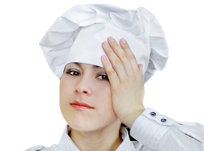 Donna del cuoco fotografia stock