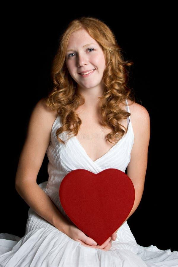 Donna del cuore di amore fotografie stock libere da diritti