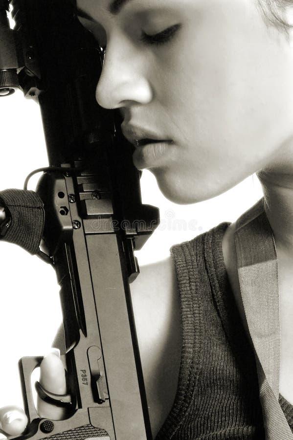Donna del guerriero fotografie stock libere da diritti