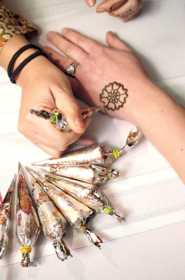 Donna del hennè fotografia stock libera da diritti
