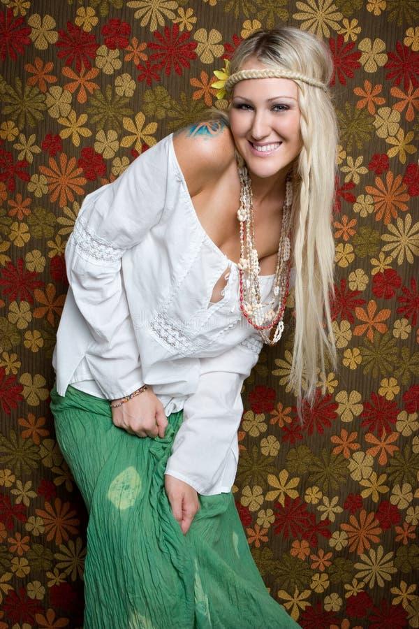 Donna del Hippie immagine stock