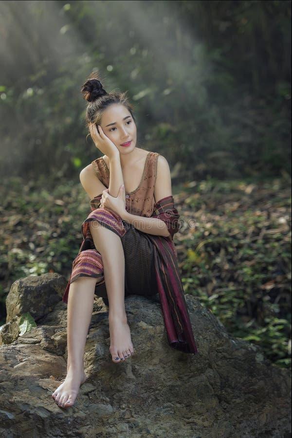 Donna del Laos immagini stock