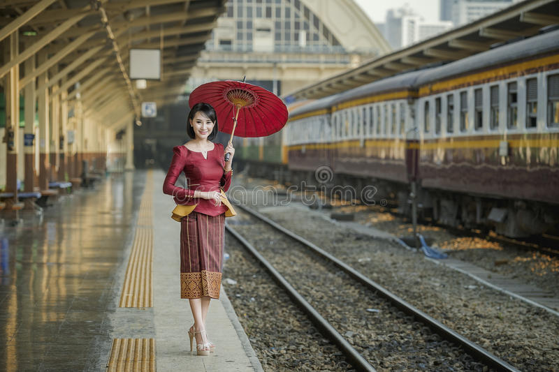 Donna del Laos fotografia stock
