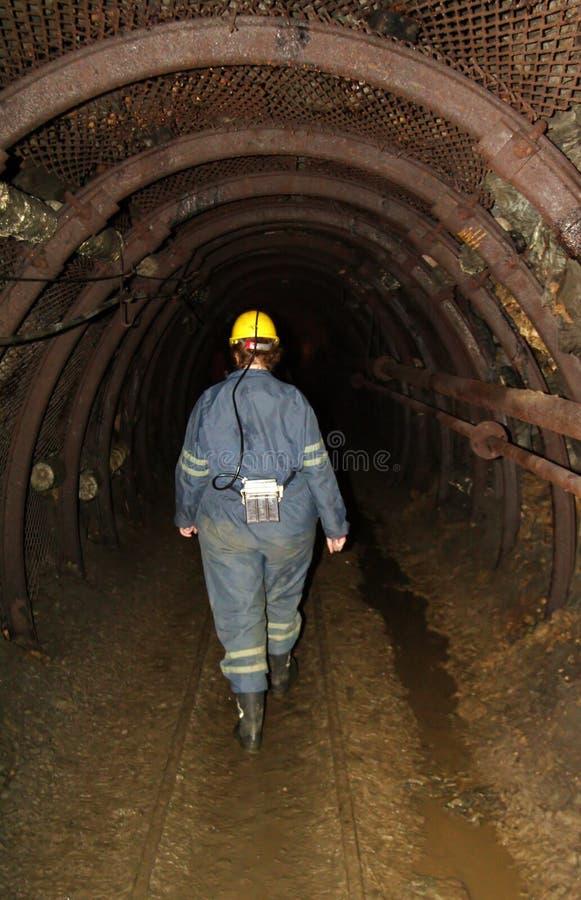 Donna del minatore fotografie stock libere da diritti