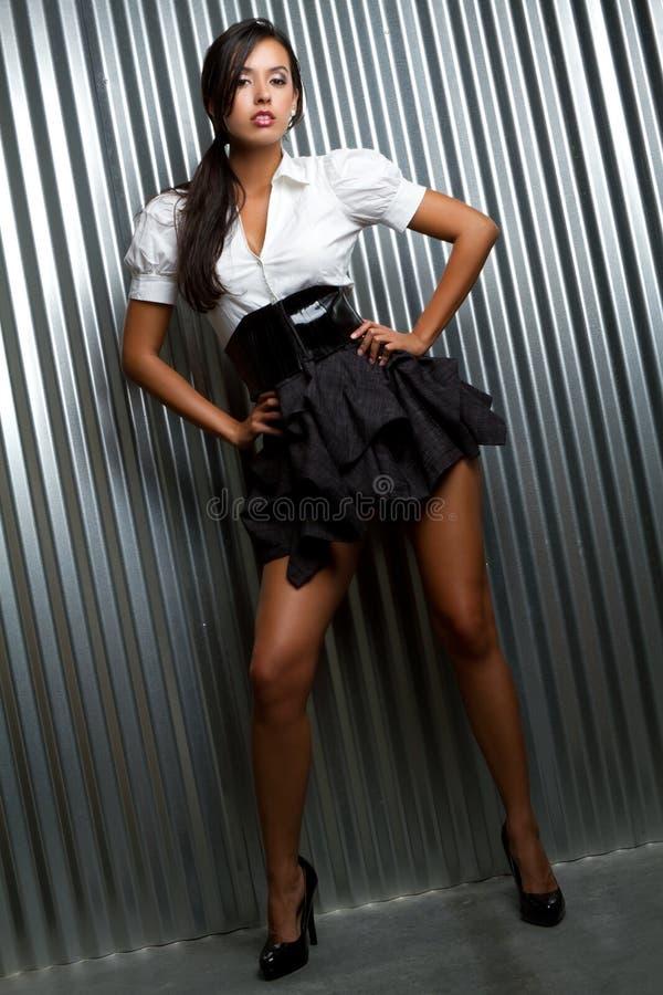 Donna del modello di modo fotografie stock