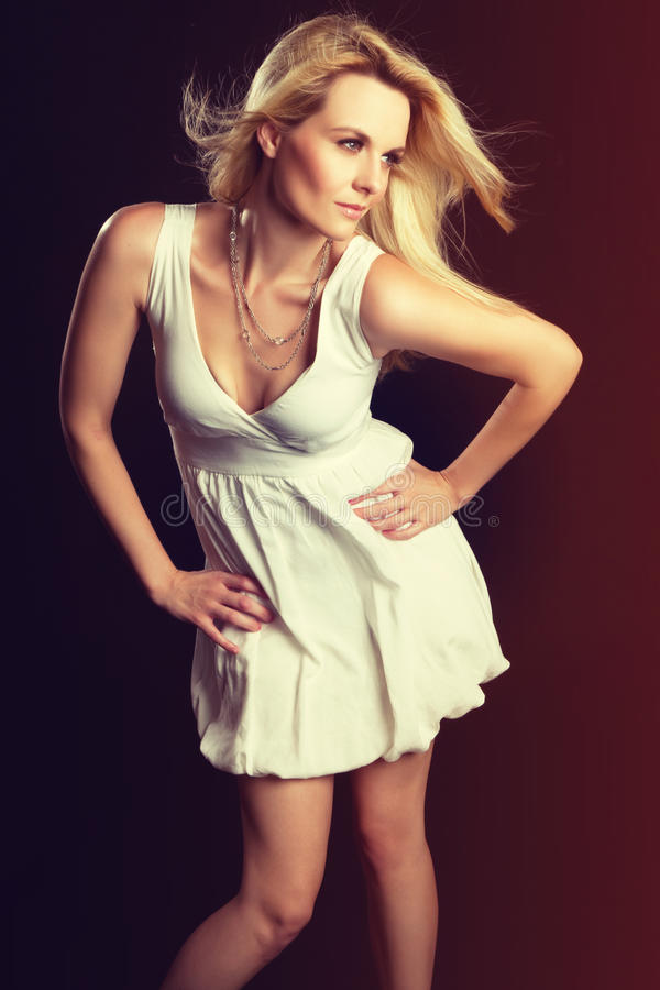 Donna del modello di modo fotografia stock