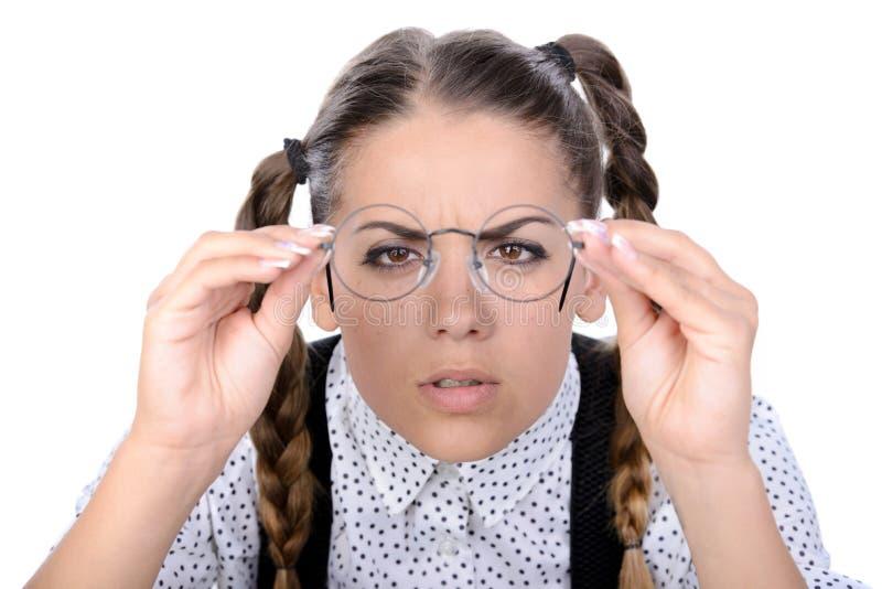 Donna del nerd immagini stock libere da diritti