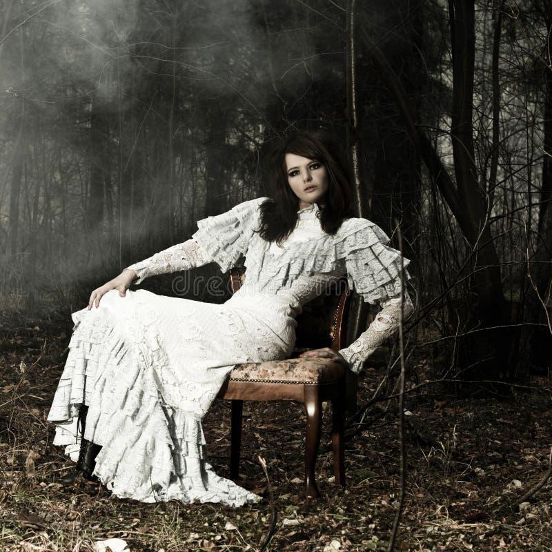 Donna del ritratto fotografia stock