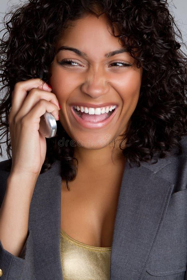 Donna del telefono fotografie stock libere da diritti