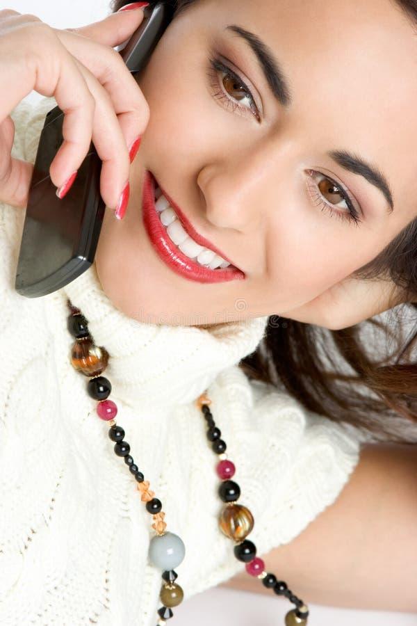 Donna del telefono delle cellule fotografie stock libere da diritti
