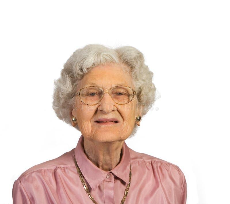 Donna dell'anziano del ritratto immagine stock