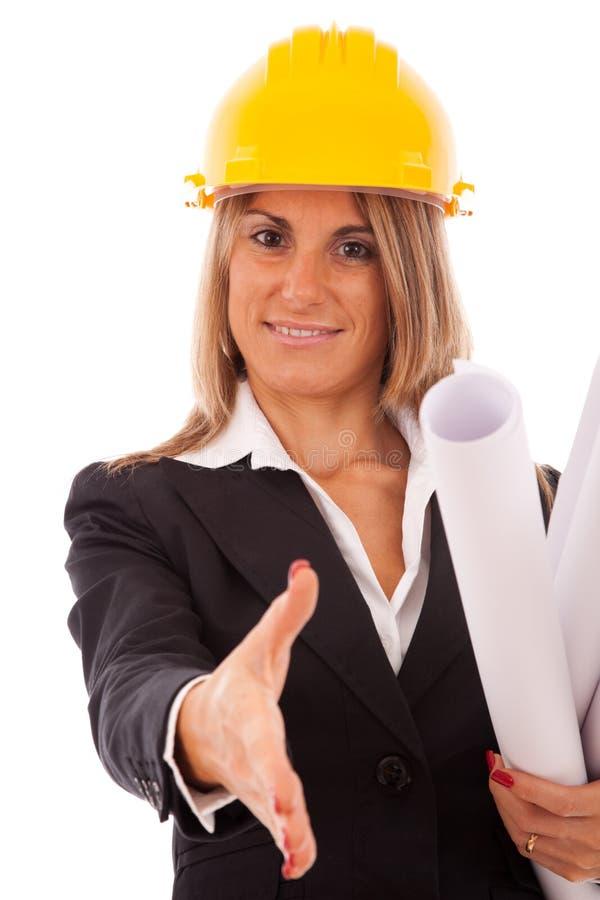 Donna dell'architetto immagine stock