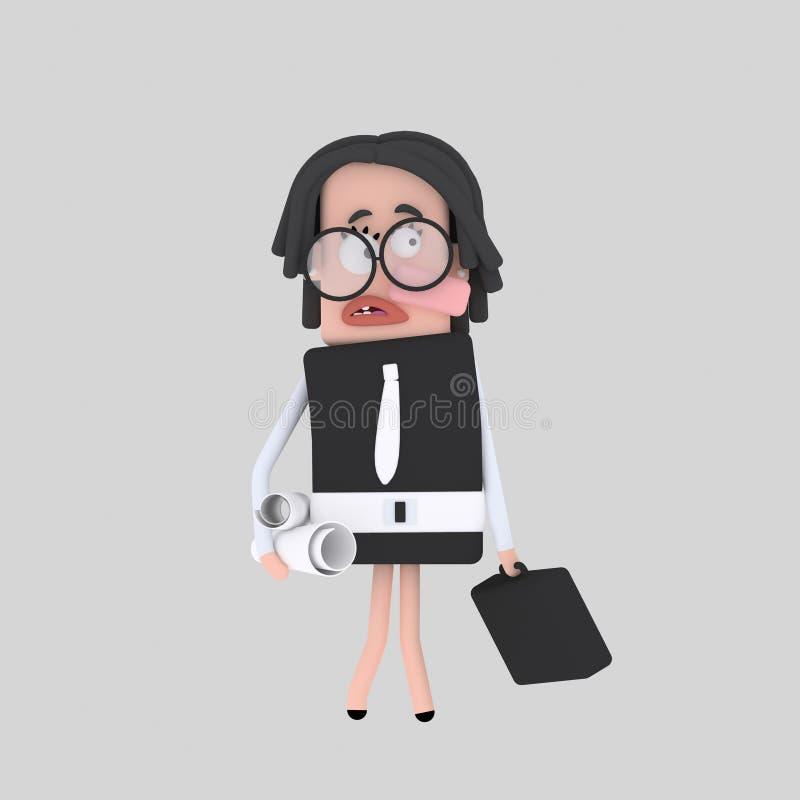 Donna dell'architetto royalty illustrazione gratis