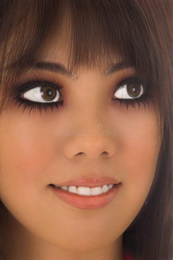 Donna dell'asiatico del primo piano fotografia stock