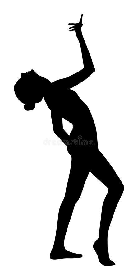 Donna dell'atleta nell'esercizio della palestra Figura della ragazza di balletto royalty illustrazione gratis