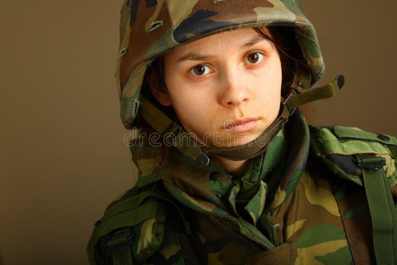 Donna dell'esercito fotografia stock libera da diritti