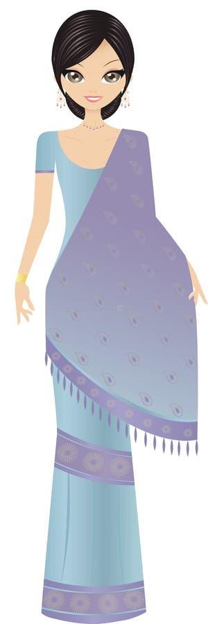 Donna dell'indiano di Bollywood illustrazione di stock