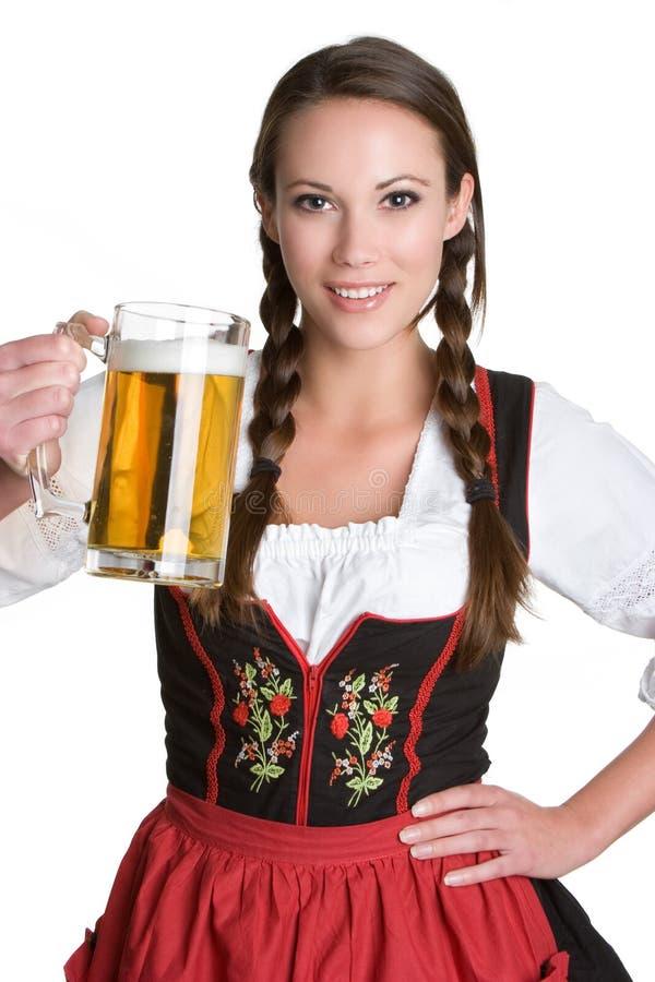Donna della birra fotografia stock libera da diritti