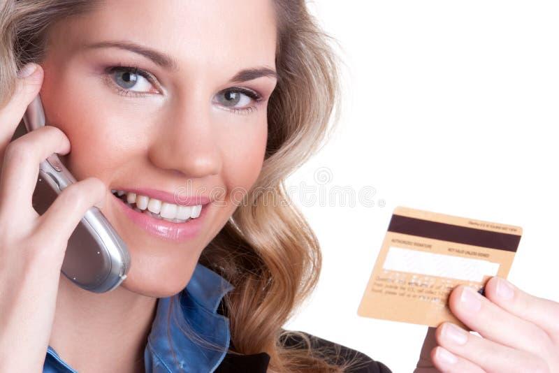 Donna della carta di credito fotografia stock libera da diritti