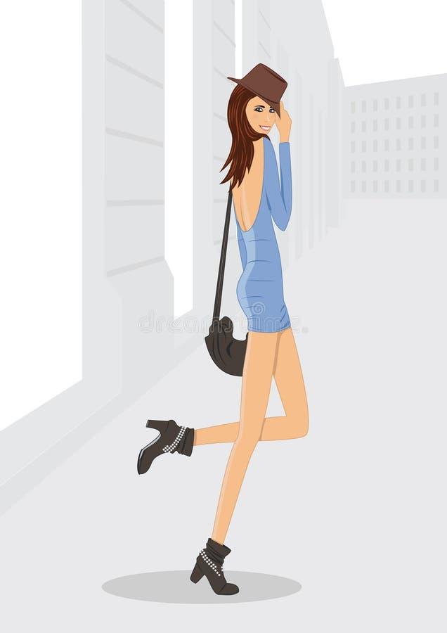 Donna della città immagine stock