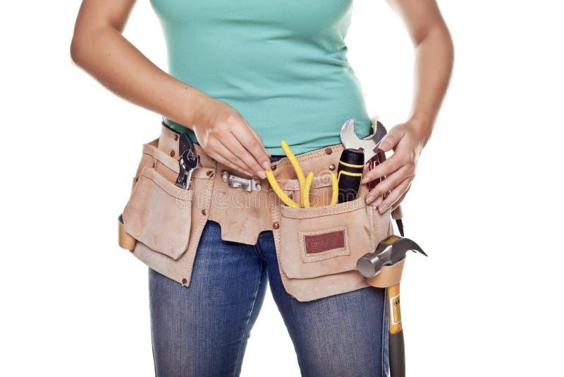 Donna della costruzione. fotografia stock libera da diritti