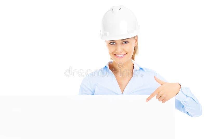 Donna della costruzione immagini stock