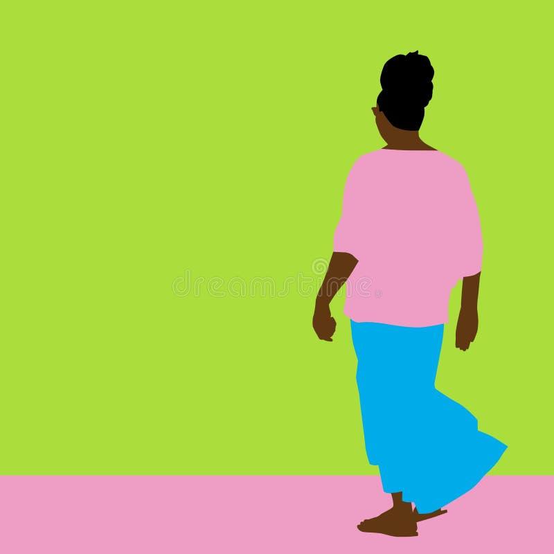 Donna della gonna di scorrimento illustrazione di stock
