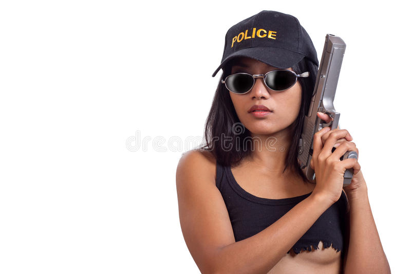 Donna della polizia fotografia stock