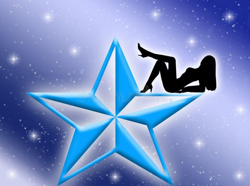 Donna della stella royalty illustrazione gratis
