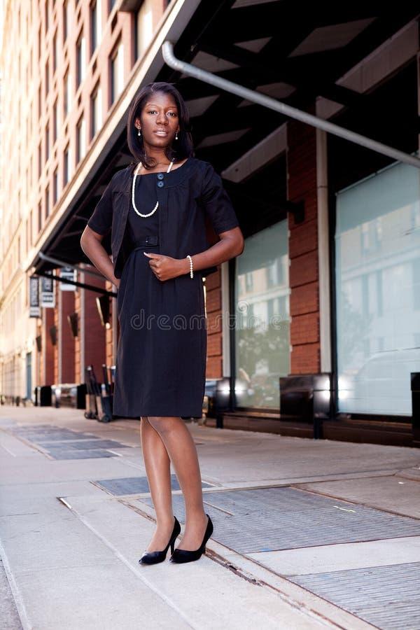 donna della via di affari immagini stock