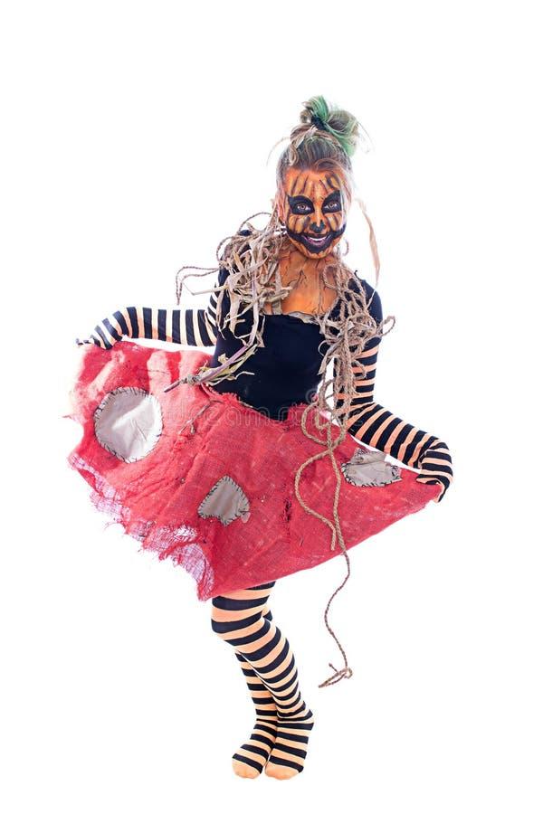 Donna della zucca di dancing fotografie stock libere da diritti