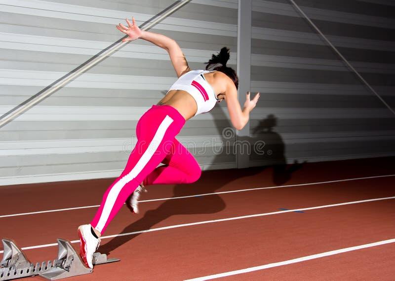 Donna dello sprinter fotografia stock