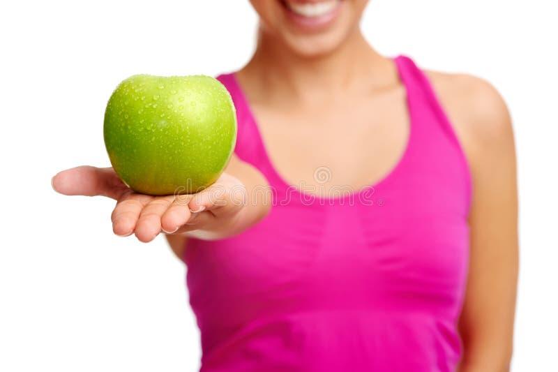 Donna dentaria della mela immagini stock