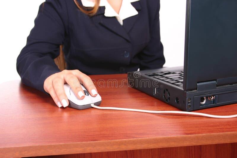 Donna desk1 di affari immagine stock libera da diritti