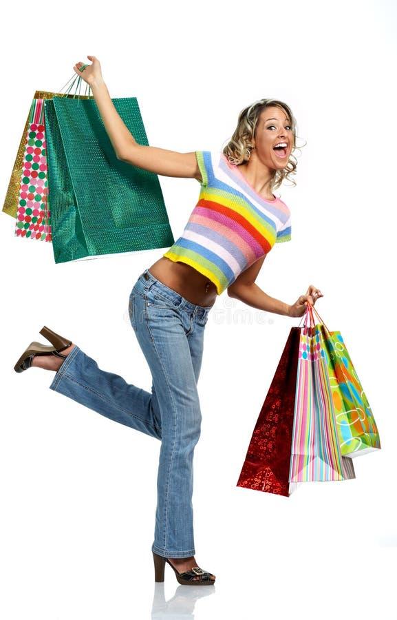 Donna di acquisto immagini stock
