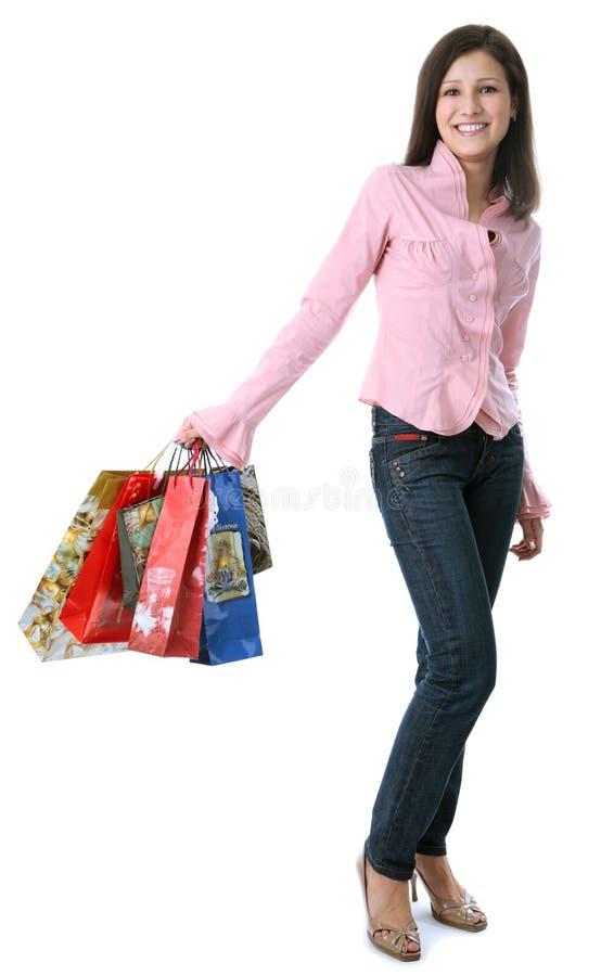 Download Donna di acquisto fotografia stock. Immagine di sguardo - 7309638