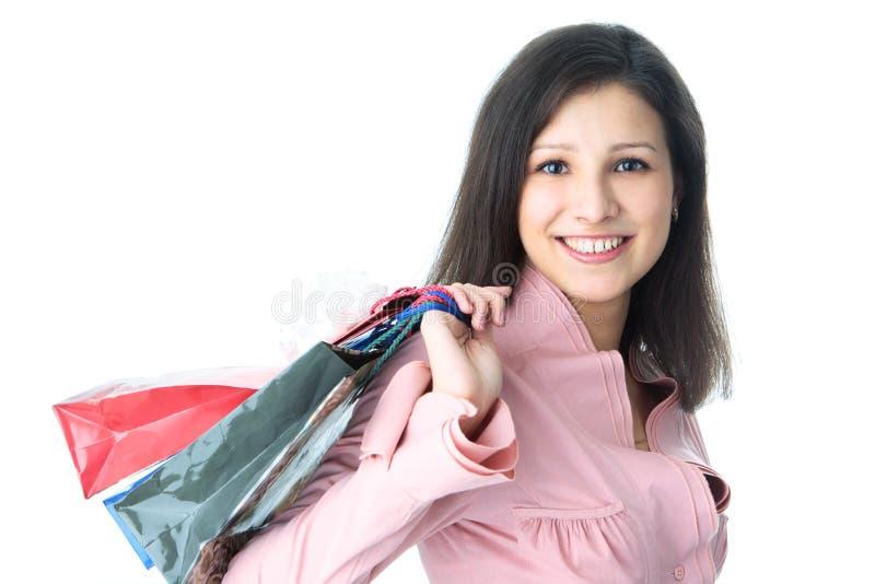 Download Donna di acquisto fotografia stock. Immagine di caldo - 7309648