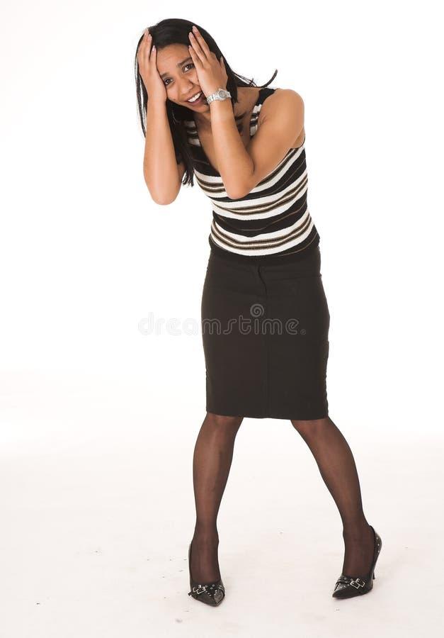 Donna di affari africana immagine stock